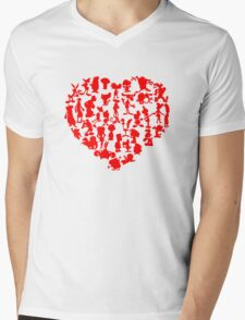 I Love Cartoons Mens V-Neck T-Shirt