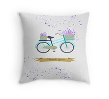 Lavender bicycle. Thank you. Throw Pillow