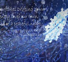 snowflake in blue 7 haiku with texture by PoemsProseArt