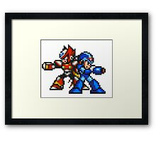 Megaman X And Zero Framed Print