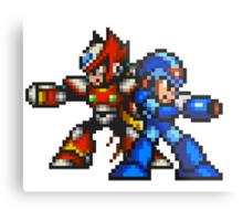 Megaman X And Zero Metal Print