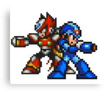 Megaman X And Zero Canvas Print