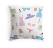 Fashion accessories pattern. Throw Pillow