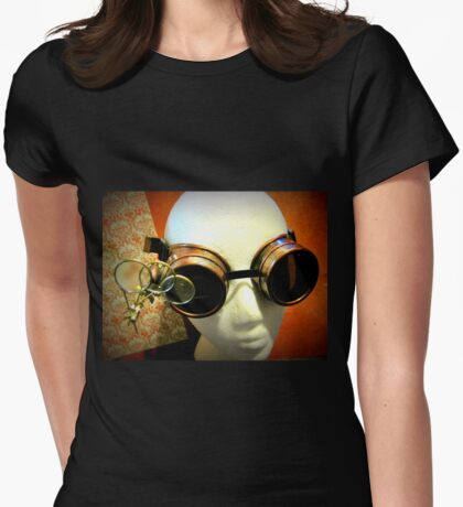 Steampunk Goggles 1.0 Womens Fitted T-Shirt