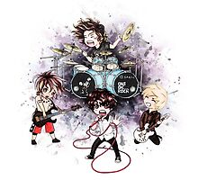 Chibi ONE OK ROCK (bag/pillow white) by Shea Loseth