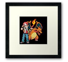 Red and Charizard Framed Print