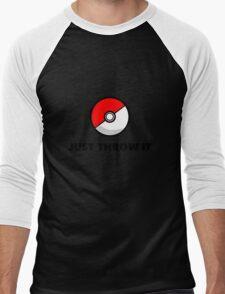 Pokemon Go Pokeballs - Just Throw It Men's Baseball ¾ T-Shirt
