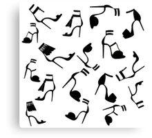 Fashion shoes pattern. Canvas Print