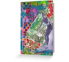 Psychedelic Surfer Greeting Card