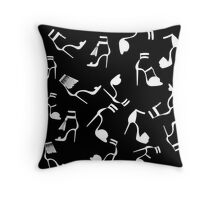 Fashion shoes pattern Throw Pillow