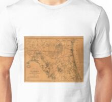 Vintage Map of Northern Florida (1864) Unisex T-Shirt