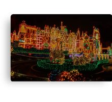 Small World Christmas Long Exposure Canvas Print