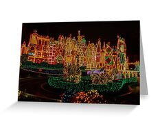 Small World Christmas Long Exposure Greeting Card