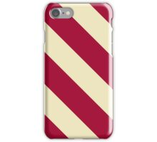 Bloomington Indiana Crimson and Cream Sports Stripes iPhone Case/Skin