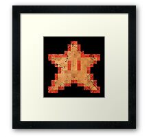 Star of Invincibility Pixels Framed Print