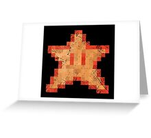 Star of Invincibility Pixels Greeting Card