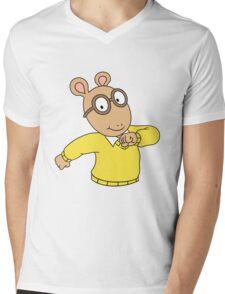 ARTHUR MEME Mens V-Neck T-Shirt