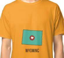 Wyoming State Heart Classic T-Shirt
