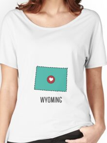 Wyoming State Heart Women's Relaxed Fit T-Shirt