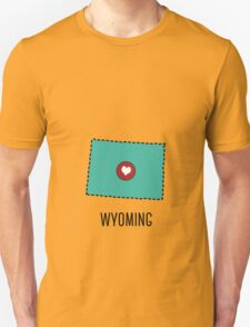 Wyoming State Heart Unisex T-Shirt