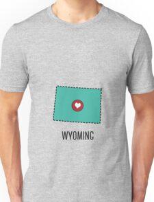 Wyoming State Heart Unisex T-Shirt