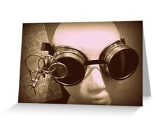Steampunk Goggles 1.1 Greeting Card