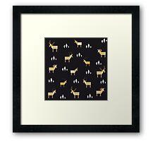 Animals pattern Framed Print