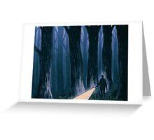 A Dark, Foggy Night Greeting Card