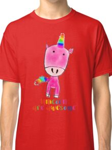 Unicorns are awesome Classic T-Shirt