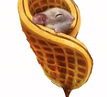 Mouse In A Waffle by brainbowtoys
