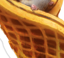 Mouse In A Waffle Sticker