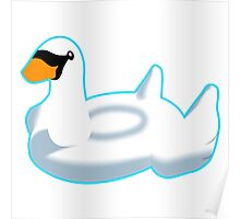 Inflatable Swan Poster