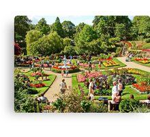 Shrewsbury Garden UK Canvas Print