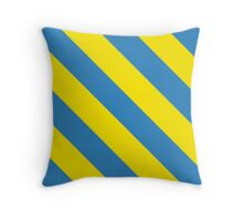 Los Angeles California Yellow and Light Blue Team Colors Throw Pillow
