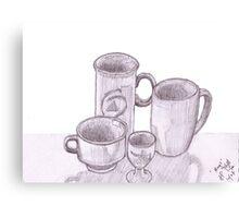 'Mugs' still life  Canvas Print