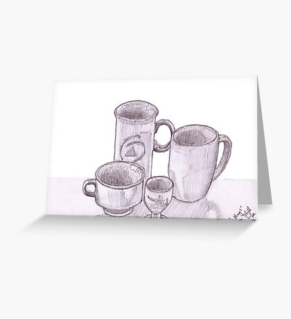 'Mugs' still life  Greeting Card
