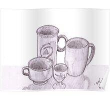'Mugs' still life  Poster
