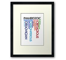 Phanerozoic aeons, eras, ages Framed Print