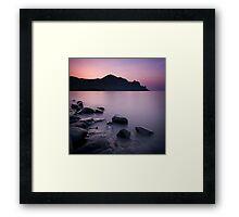 Sunrise above the stones Framed Print