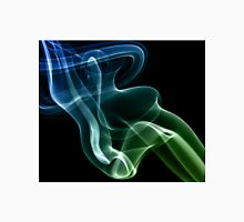 Smoke compositions in blue and green Unisex T-Shirt