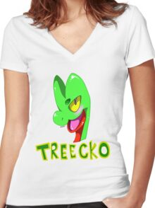 TREECKO! Women's Fitted V-Neck T-Shirt