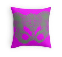 PELVIS BONE - CONTRAST Throw Pillow