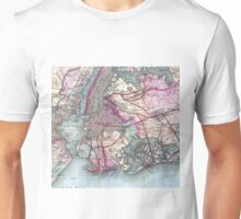 Vintage Map of The NYC Metro Area (1880) Unisex T-Shirt