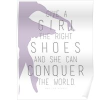 Shoes Marilyn Monroe Quote Poster