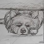 RocketMan Asleep at Top of the Stairs by Karen Gingell