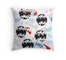 Memphis geometric design Throw Pillow