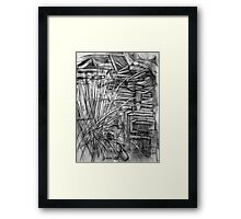 Quarry Stones + Grasses Newport Lakes Melbourne Australia  Framed Print