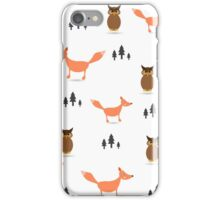 Pattern of forest animals.  iPhone Case/Skin