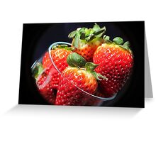 Strawberry Delight.. Greeting Card