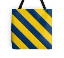 Ann Arbor Michigan Navy and Yellow Team Color Stripes Tote Bag